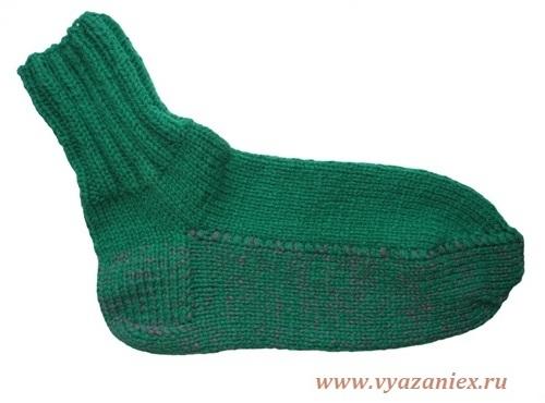 Вязание носков с укрепленной подошвой