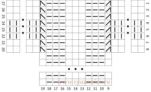 Схемы вязания спицами колосок 16