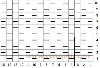 Крупный жемчужный узор спицами схема 94