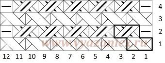 Вязание рогожка схема