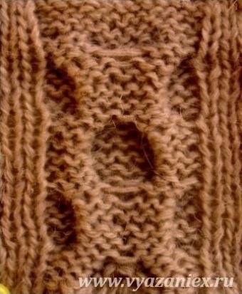 Вязание спицами узор восьмерка 47