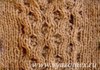 Ирландская плетенка - изнаночная сторона