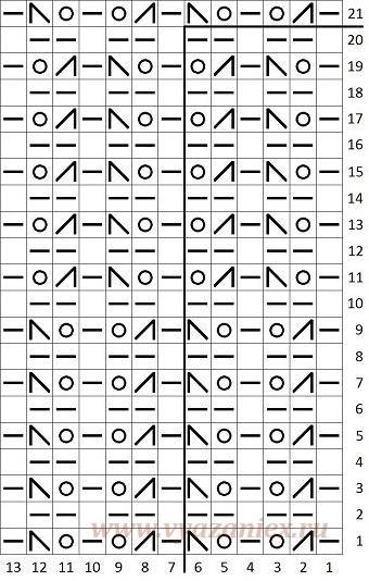Вязание спицами узоры колосок и схемы 308