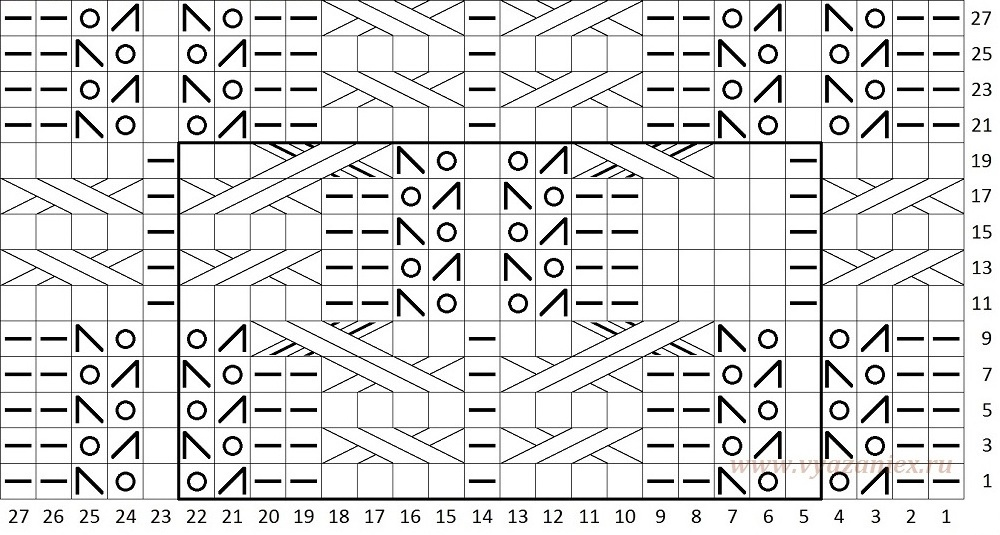 Вязание спицами. жгут. схема 260
